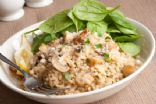 Slow Cooker Mushroom Garlic Risotto