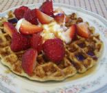 Protein Waffles with Flaxseed