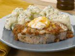Cheese N Chili Chops with Cauliflower Salad
