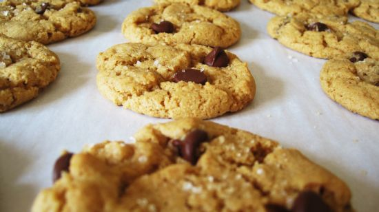 Salt Kissed Chocolate Chip Peanut Butter Cookie