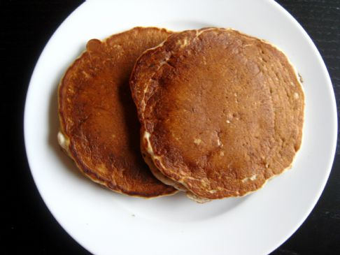 Strawberry-Banana Flax Pancakes