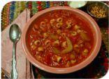 Slow Cooker Vegetarian Olive Garden Pasta e Fagioli Soup