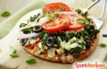 Spinach-Feta Personal Pizza