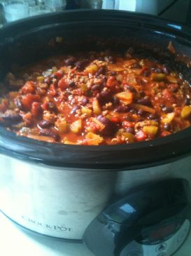 Tex-Mex Chili for 18 (large crockpot)