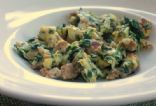 Sausage & Spinach Egg Scramble