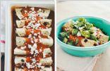 Roasted Zucchini, Black Bean & Vegan Cheese Enchiladas