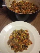 Chipotle Turkey and Sweet Potato Hash Skillet