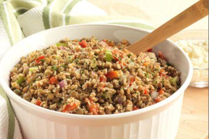 Herbed Bulgur and Lentil Salad