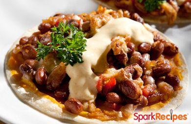 15-Minute Meals: Chicken Tostadas with Bean and Pumpkin