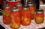 Homemade chunky spaghetti sauce for canning