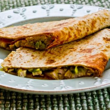 Cher's turkey or chicken Quesadilla, barbequed