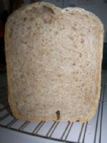 Bread machine whole wheat, oats and flax seeds bread