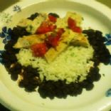 Margarita Grilled Chicken with black beans and rice