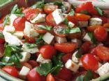 Caprese Salad with Grape Tomatoes, Mozzarella & Basil