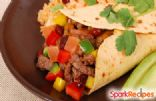 Creamy Beef and Pepper Burritos