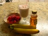 Health Banana Strawberry milkshake