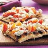 Grilled Heirloom Tomato and Goat Cheese Pizza