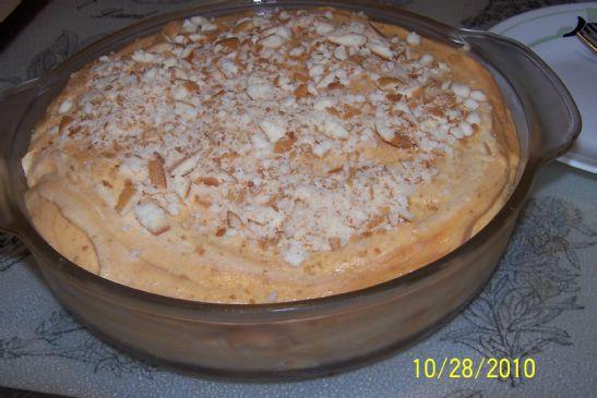 Pumpkin Pie w/wafers
