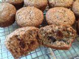 Bran Muffins with Dates, low fat, vegan