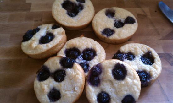 Blueberry Garbanzo Biscuits