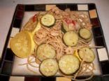 Vegitable medley with salad shrimp