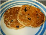 Whole Grain Blueberry Banana Pancakes