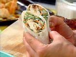 Thai Chicken Wrap with Spicy Peanut Sauce