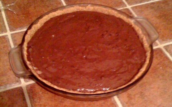 Chocolate Pudding Pie with Homemade Graham Cracker Crust