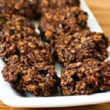 Sugar Free Flourless Chocolate and Oatmeal Cluster Cookies