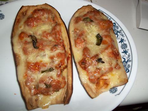 Cheesy Eggplant Boats
