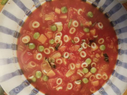 Katya's Vegetable Minestrone Soup, Low-fat