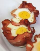 Baked Ham & Eggs Cups