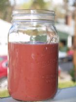 Raw Raspberry Papaya Smoothie
