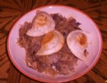 Pierogi With Sauerkraut steak and Mushrooms
