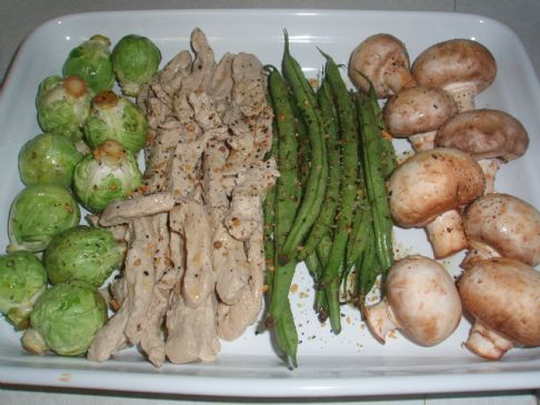 Roasted Vegetables & Veggie Chicken