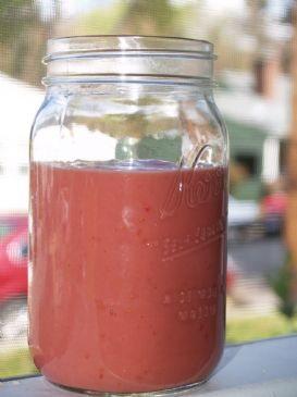 Raw Raspberry Papaya Smoothie