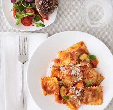Cheese Ravioli with Chunky Marinara Sauce
