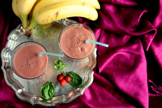 Strawberry Banana (green) Smoothie