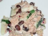Creamy Cucumber Black Bean & Tuna Salad
