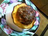 Ground Beef'n Acorn Squash Bake