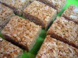 Coconut Almond Brown Rice Krispy Treats