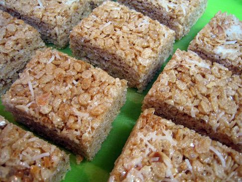 Coconut Almond Brown Rice Krispy Treats