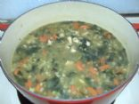 Chicken Barley Soup with Spinach