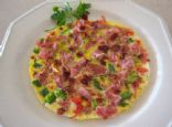 Ham and Turkey Bacon Veggie Frittata
