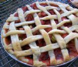 Strawberry - Banana Rhubarb pie