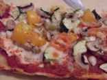 low cal vegi pizza Sean & Bailey style