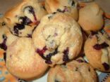 Reduced Fat Blueberry Muffins