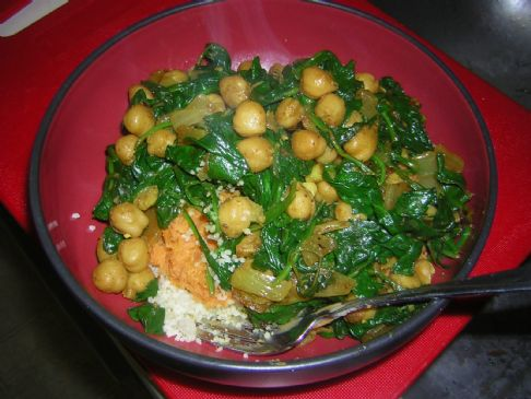 spinach and chickpea saute