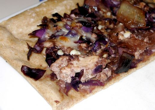 Carmelized Onion and Cabbage Tart