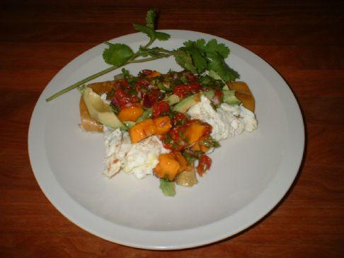 Low Fat Huevos Rancheros with Mango Salsa